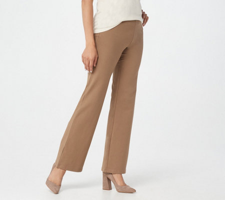 "Women with Control Regular ""Leah"" Pull-On Boot-Cut Pants"