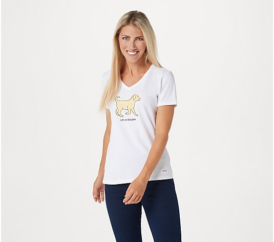 Life is Good Women's Short Sleeve Crusher Tee