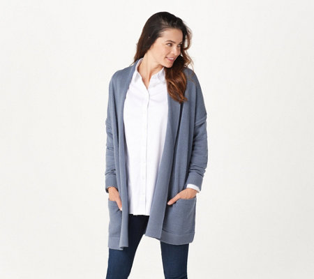Martha Stewart Long-Sleeve Open Front Cardigan with Pockets