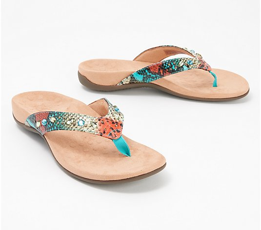 Vionic Embellished Thong Sandals - Lucia