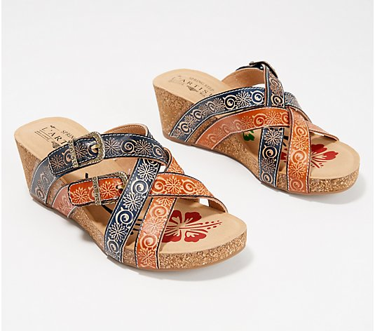 L'Artiste by Spring Step Leather Wedges - Thevana