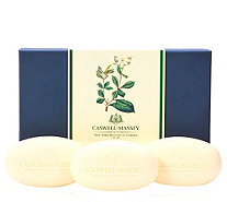 Caswell-Massey Set of 3 Floral Bar Soaps - A412024
