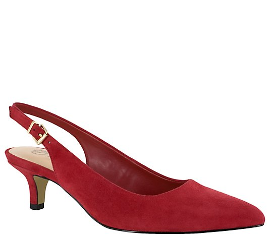 Bella Vita Kitten Heel Pumps - Scarlett
