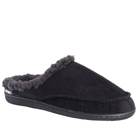Muk Luks Men S Corduroy Clog Slippers