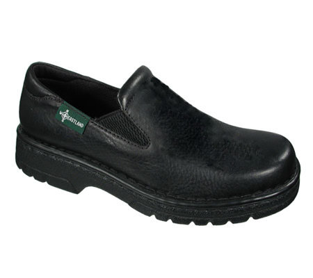 Eastland Leather Slip-ons with Lug Sole - Newport Black
