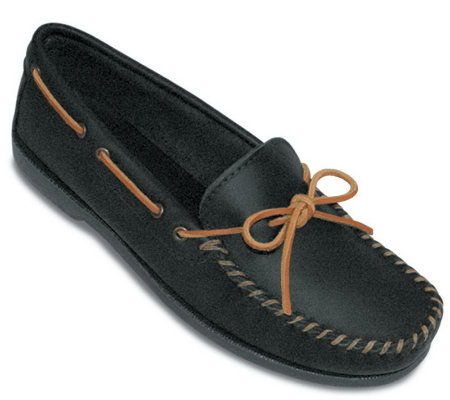 Minnetonka Men's Leather Camp Moccasins