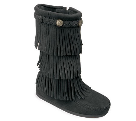 Minnetonka Children's 3 Layer Fringe Boots