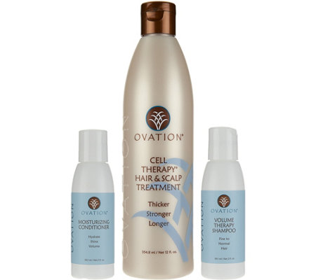 Ovation Cell Therapy Treatment with Travel Shampoo & Conditioner