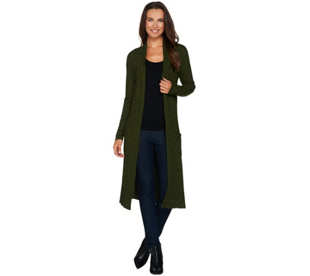 Lisa Rinna Collection Regular Open Front Duster Cardigan