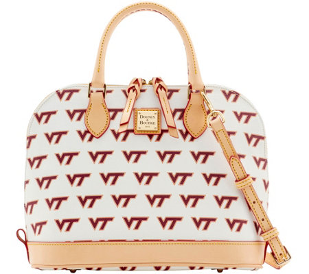 Dooney & Bourke NCAA Virginia Tech University Zip Zip Satchel