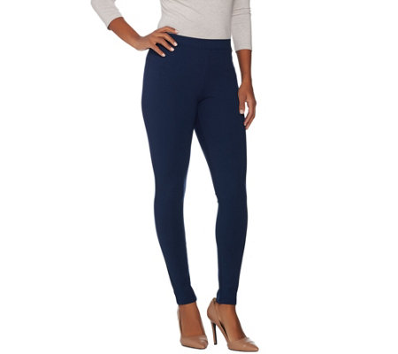 H By Halston Petite Vip Ponte Ankle Length Leggings