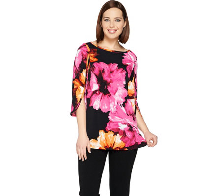Susan Graver Printed Liquid Knit Tunic