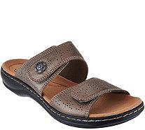 Clarks Leather Double Adjust Slide Sandals - Leisa Lacole - A288925