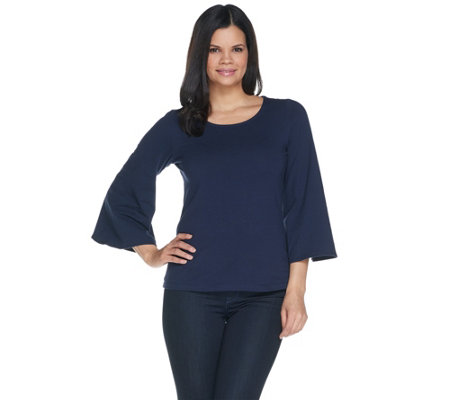 Women with Control 3/4 Bell Sleeve T-Shirt