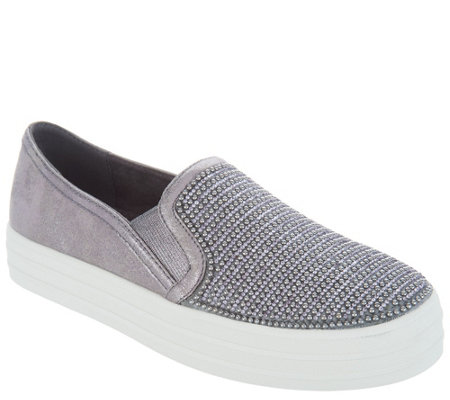 Skechers Embellished Slip On Shoes Shiny Dancer