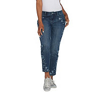 Laurie Felt Classic Denim Slim Leg Embroidered Jeans - A310025