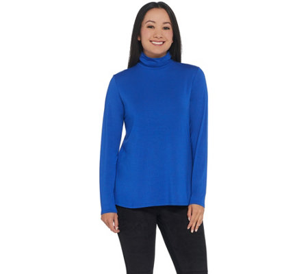 H By Halston Essentials Turtle Neck Long Sleeve Top
