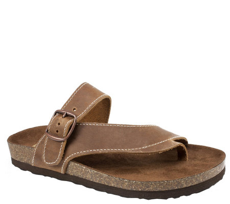 Heritage by White Mountain Leather Thong Sandals - Carly