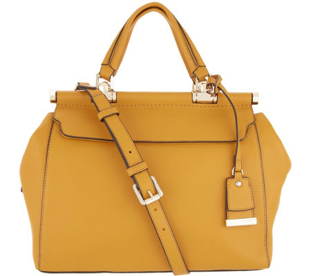 Vince Camuto Solid Leather Satchel - Carla
