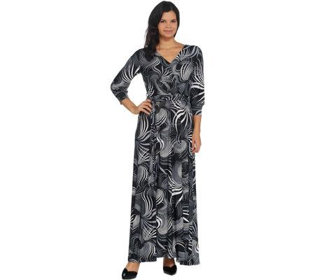 Laurie Felt Wrap Front Maxi Dress