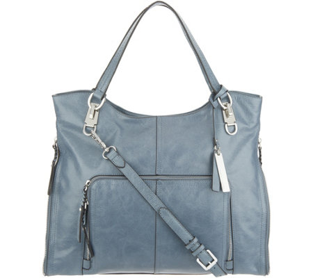 """As Is"" Vince Camuto Leather Tote Bag - Narra"