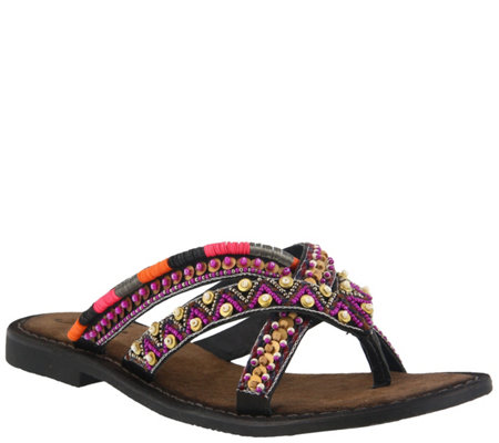 Azura by Spring Step Slide Sandals - Triage
