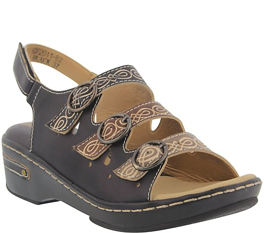 L'Artiste by Spring Step Leather Sandals - Burbandale
