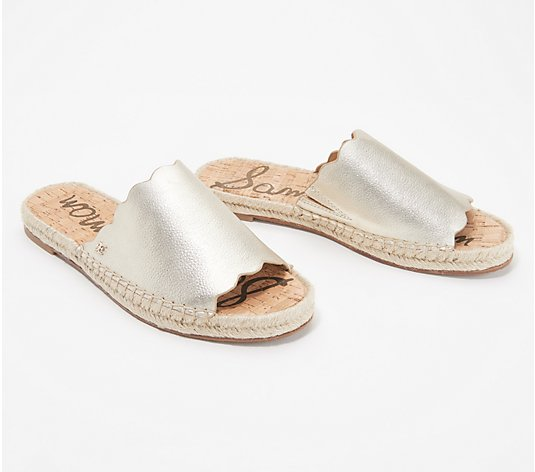 Sam Edelman Leather Espadrille Slide Sandals - Andy