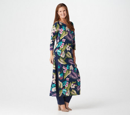 Women with Control Regular 3/4-Sleeve Yummy Jersey Duster & Pants