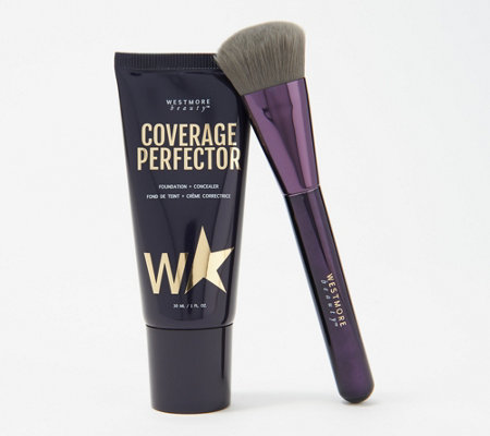 Westmore Beauty Coverage Perfector 2-in- 1 Foundation with Brush