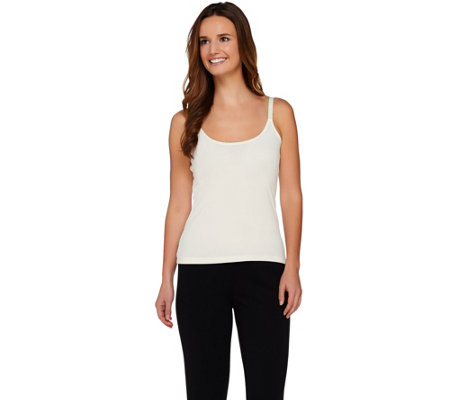 Susan Graver Liquid Knit Scoop Neck Cami