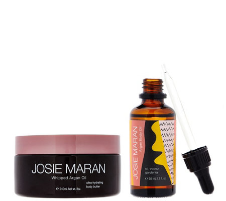 Josie Maran Whipped Argan Oil Body Butter & Body Oil Set