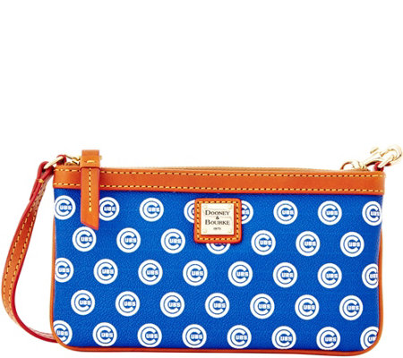 Dooney & Bourke MLB Cubs Large Slim Wristlet