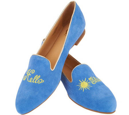 C. Wonder Suede Hello Sunshine Loafers - Chloe