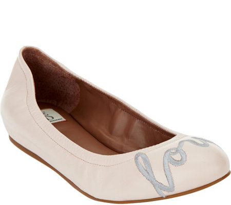 """As Is"" ED Ellen DeGeneres Leather Ballet Flats - Langston"