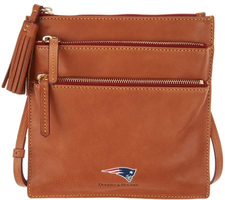 """As Is"" Dooney & Bourke NFL Florentine Triple Zip Crossbody"