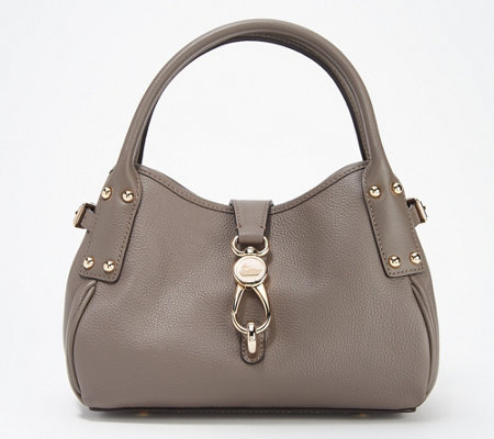 Dooney & Bourke Belvedere Leather Small Logo Lock Satchel
