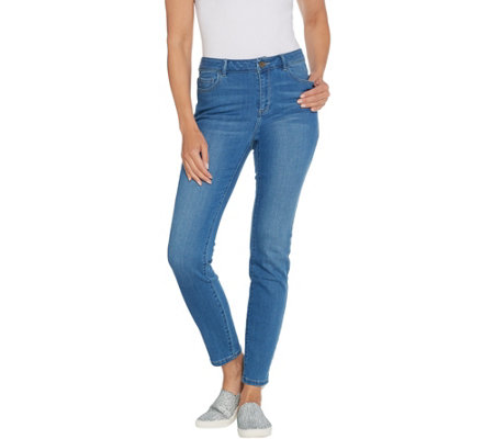 LOGO by Lori Goldstein Regular Distressed Skinny Jean