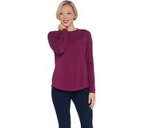 Isaac Mizrahi Live! SOHO Long Sleeve Crew-Neck Knit Top - A346826
