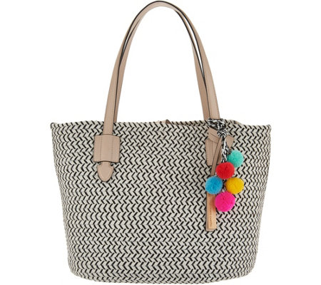 """As Is"" Vince Camuto Braided Rope Tote Handbag - Colle"