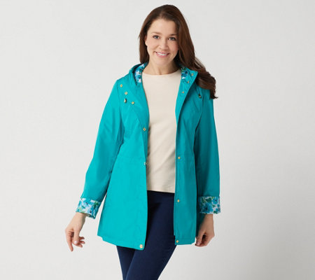 Susan Graver Water Resistant Zip-Front Jacket w/ Seaming Detail
