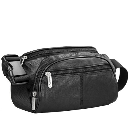 Travelon RFID Blocking Leather Waist Pack