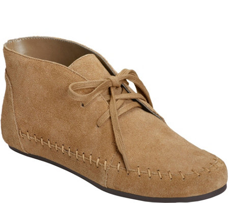 Aerosoles Suede Wallabee Booties - Driving Range