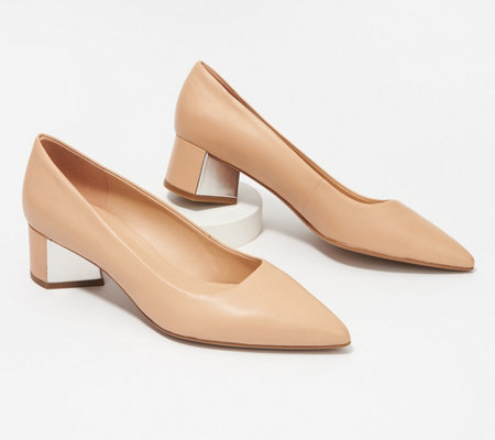 Franco Sarto Leather Pointy Toe Pumps - Global