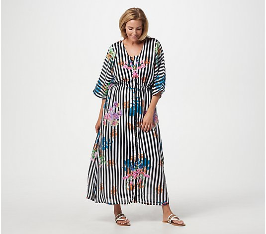 """As Is"" Tolani Collection Regular Printed Lined Woven Maxi Dress"