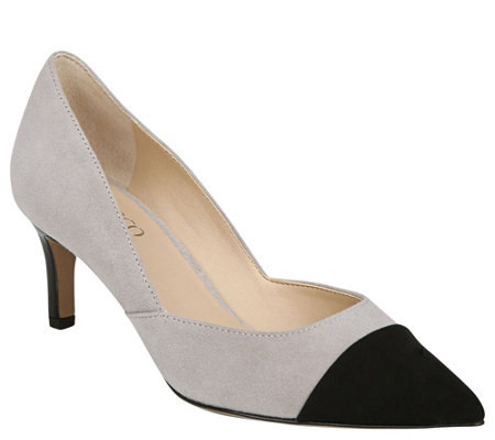 Franco Sarto Toe Cap Kitten Heel Pumps - Delight