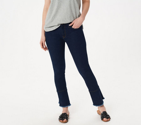 meet various colors autumn shoes Jen7 by 7 For All Mankind Ankle Skinny Jeans with Ruffle Hem — QVC.com