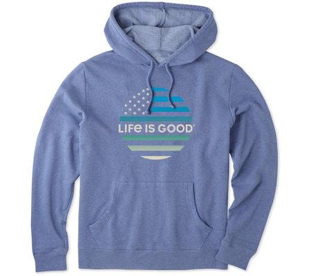 ce5fca3a953 Life is Good Men s Flag Simply True Hoodie - Page 1 — QVC.com