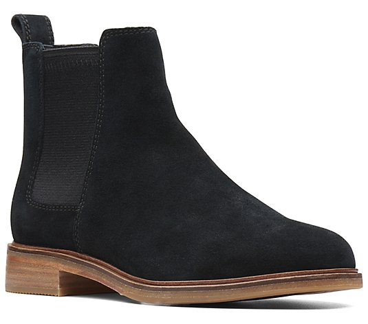 Clarks Suede Chelsea Boots - Clarkdale Arlo