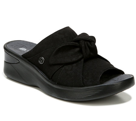 Bzees One Band Slip-On Sandals - Smile